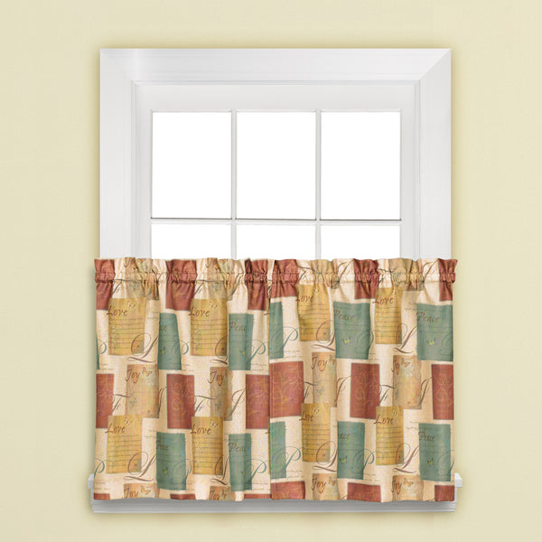 Tranquility Rod Pocket Tier - Tier 058x024 Multi C21502- Marburn Curtains