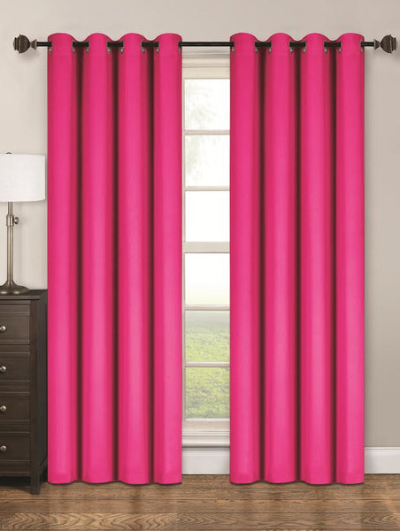 Twilight Thermal Blackout Grommet Panel - Panel   054x063 Fuchsia C40350- Marburn Curtains
