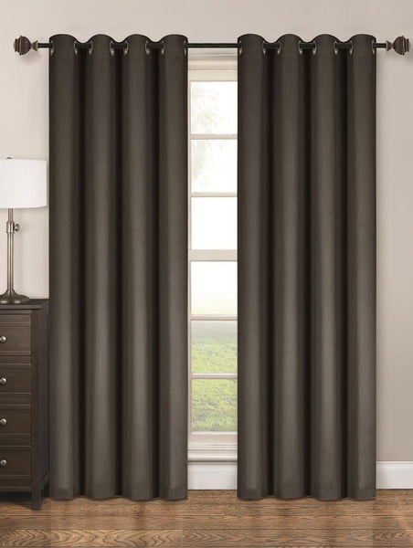 Twilight Thermal Blackout Grommet Panel - Panel   054x063 Grey C40358- Marburn Curtains
