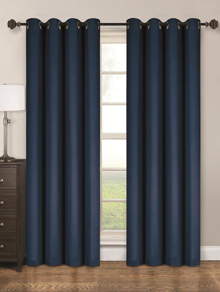 Twilight Thermal Blackout Grommet Panel - Panel   054x063 Navy C40359- Marburn Curtains