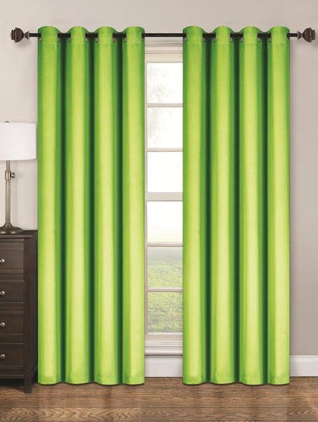 Twilight Thermal Blackout Grommet Panel - Panel   054x063 Lime Green C40351- Marburn Curtains
