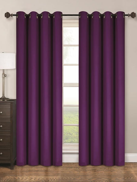 Twilight Thermal Blackout Grommet Panel - Panel   054x084 Purple C40342- Marburn Curtains