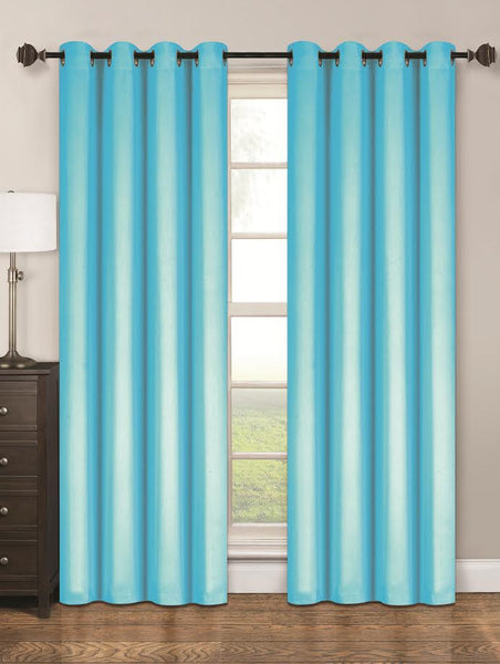 Twilight Thermal Blackout Grommet Panel - Panel   054x063 Turquoise C40356- Marburn Curtains