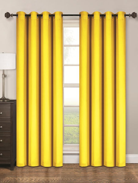 Twilight Thermal Blackout Grommet Panel - Panel   054x063 Yellow C40349- Marburn Curtains