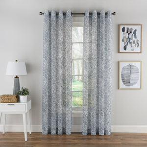 Toile Lace Grommet Panel - 054x063 Blue C42270- Marburn Curtains