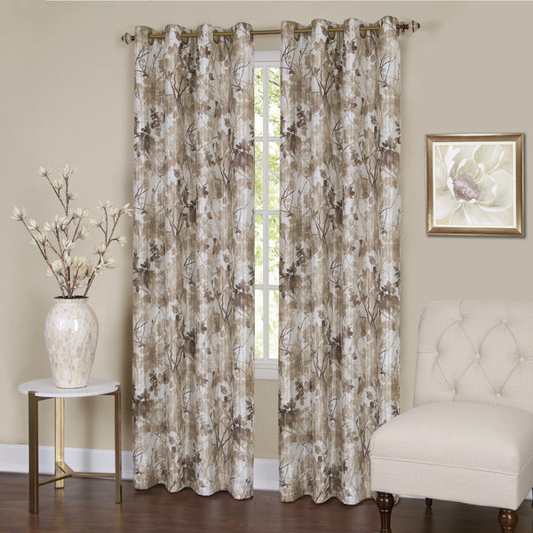 Tranquil Lined Room Darkening Grommet Panel - Panel   Tan 050x063 C37446- Marburn Curtains