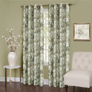 Tranquil Lined Room Darkening Grommet Panel - Panel   Green 050x063 C37440- Marburn Curtains