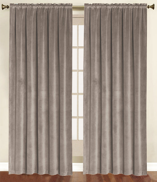 Vera Cruz Velvet Rod Pocket Panel - Panel   054x084 Taupe C41275- Marburn Curtains