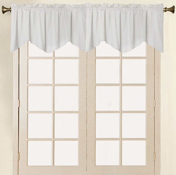 Vera Cruz Velvet Rod Pocket Valance - Valance 052x017 Ivory C41278- Marburn Curtains