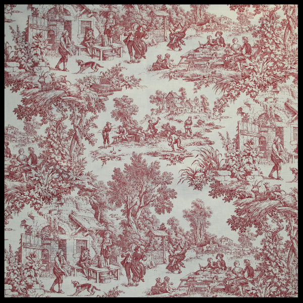 Victoria Park Toile Rod Pocket Bradford Valance - - Marburn Curtains