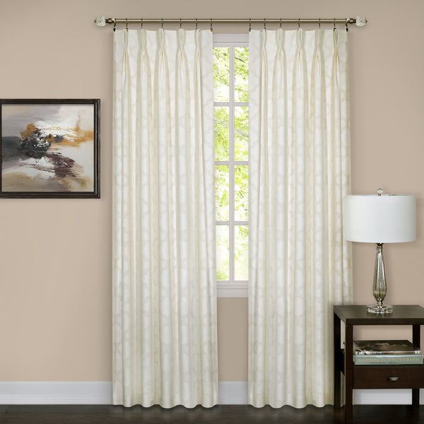 Windsor Pinch Pleat Panel - Panel   Ivory 034x063 C37606- Marburn Curtains