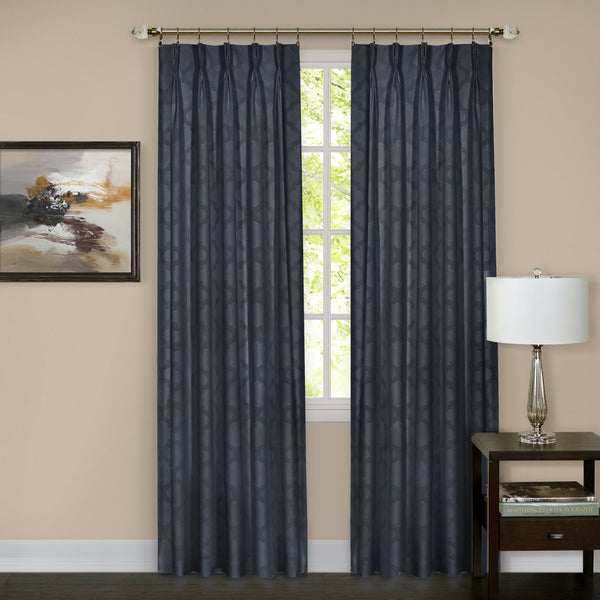 Windsor Pinch Pleat Panel - Panel   Navy 034x063 C37610- Marburn Curtains