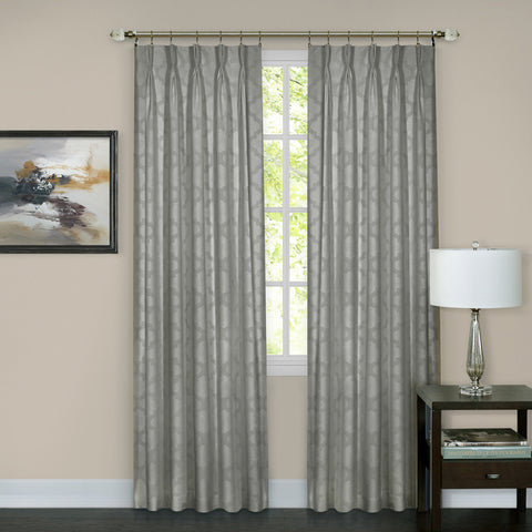 Windsor Pinch Pleat Panel - Panel   Silver 034x063 C37604- Marburn Curtains