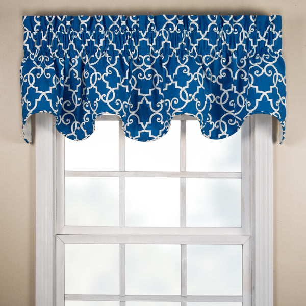 Woburn Rod Pocket Scalloped Valance - Valance 070x016Marina C36998- Marburn Curtains