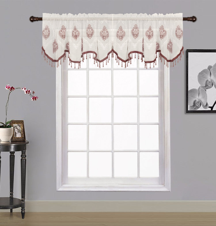 Zoey Sheer Embroidered Valance