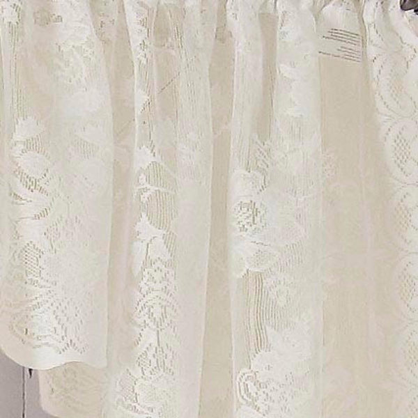 Alison Rod Pocket Lace Panel - Panel   058x063 White C32024- Marburn Curtains
