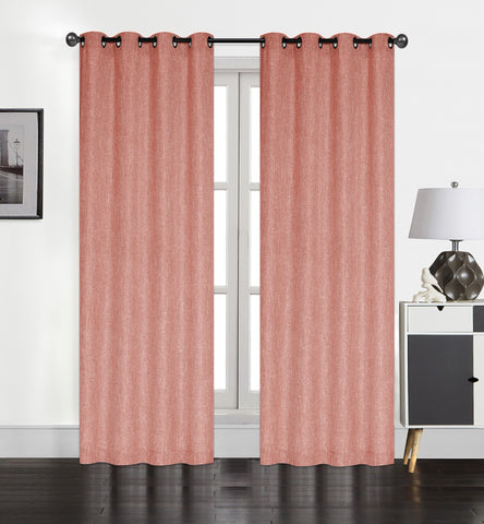 "Atlas Grommet Curtain Panel 84"" - 054x084   Coral  C44683- Marburn Curtains"