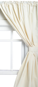 Vinyl Bathroom Window Curtain - 045x036 Bone C30238- Marburn Curtains