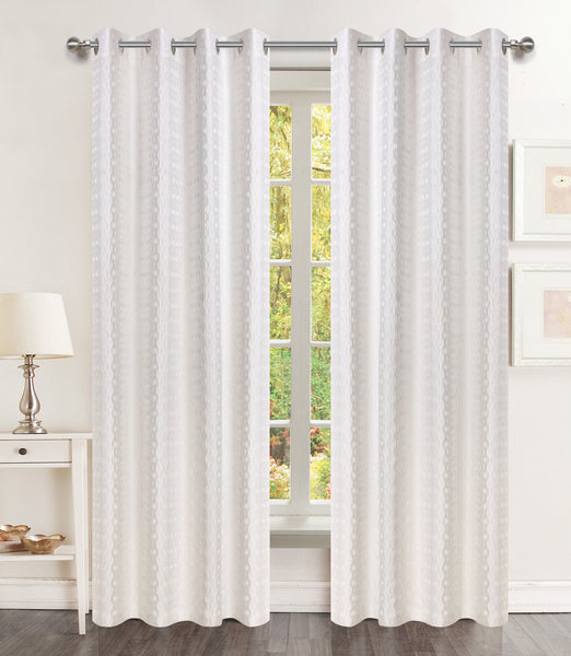 Brandy Grommet Panel - 054x063   White C44225- Marburn Curtains