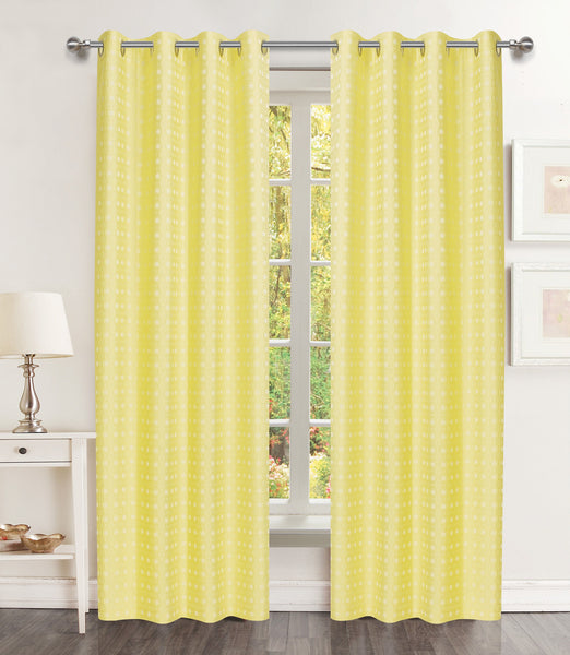 Brandy Grommet Panel - 054x063   Yellow C44226- Marburn Curtains