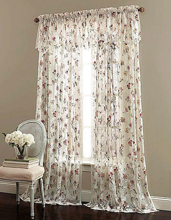 Brewster Lace Rod Pocket Scalloped Valance