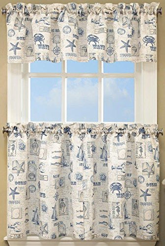 By The Sea Rod Pocket Tier - - Marburn Curtains