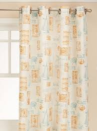 By The Sea Fabric Shower Curtain - 070x072 Green C36960- Marburn Curtains