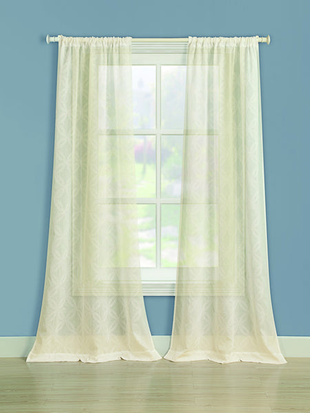 Chancery Rod Pocket Panel - 050x063 Ivory C37251- Marburn Curtains
