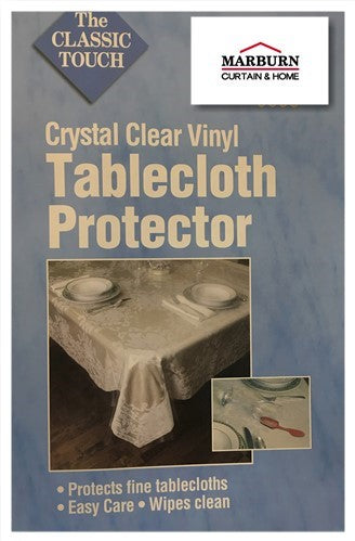 Crystal Clear Vinyl Table Protector - - Marburn Curtains