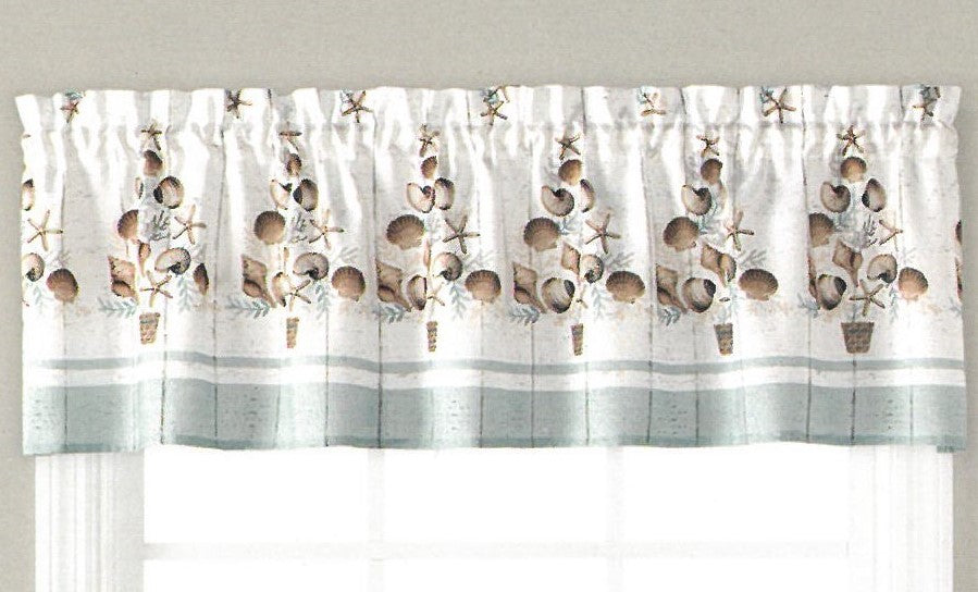 coastal christmas valance - Kitchen Curtain