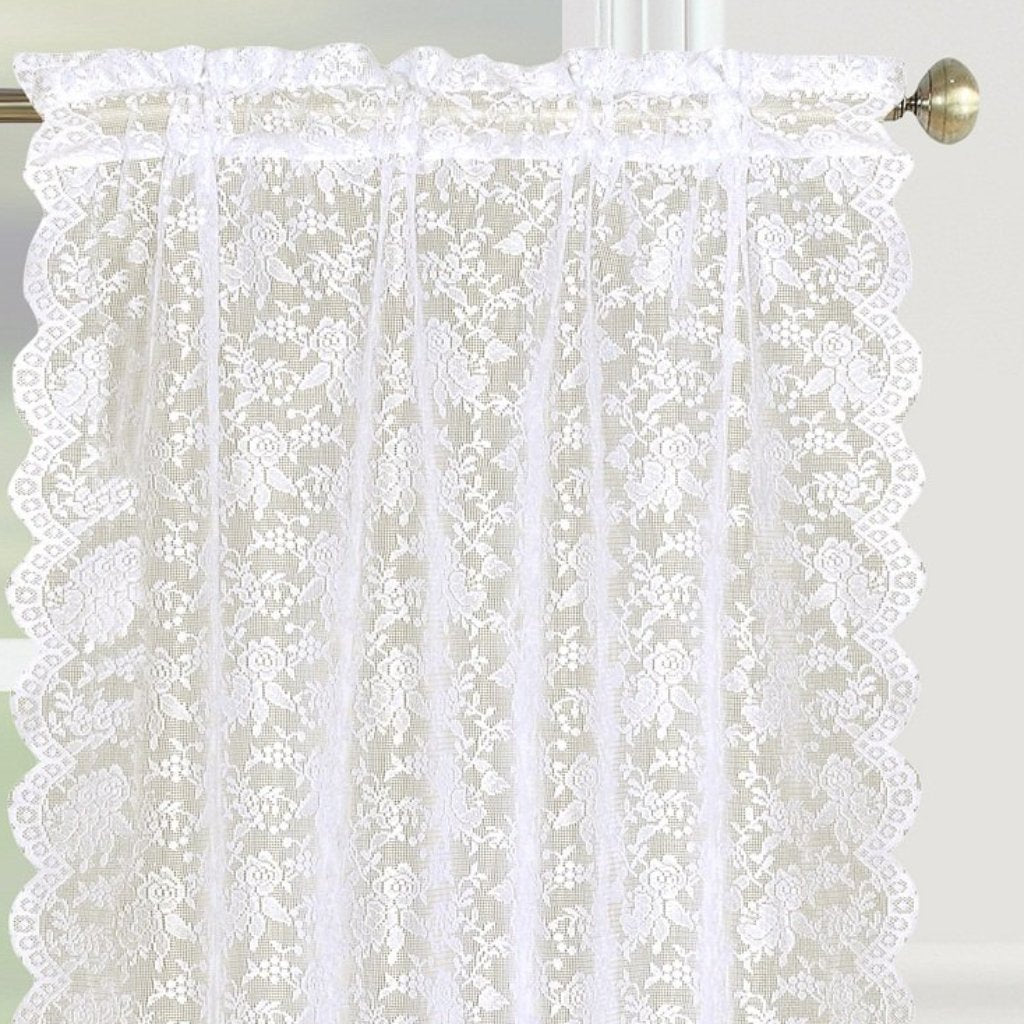 Dainty Lace Rod Pocket Tier