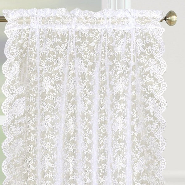 Dainty Lace Rod Pocket Tier - - Marburn Curtains