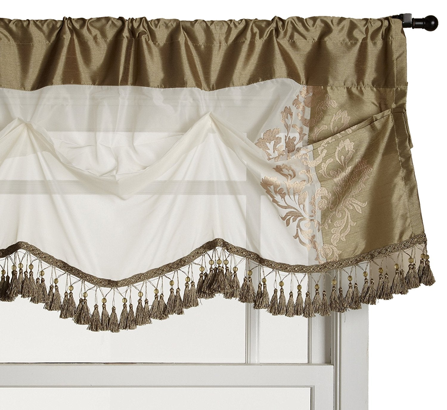 beige jacquard romantic girl new valance baby no arrival p floral curtain