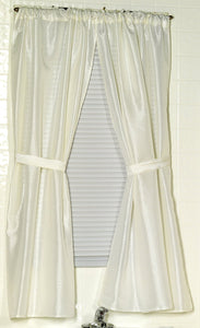 Fabric Bathroom Window Curtain - 036x054 Ivory C25661- Marburn Curtains