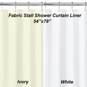 Stall Fabric Shower Curtain Liner - 054x078 Ivory C30750- Marburn Curtains
