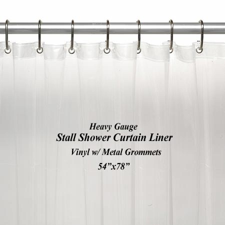 Stall 5 Gauge Vinyl Shower Curtain Liner
