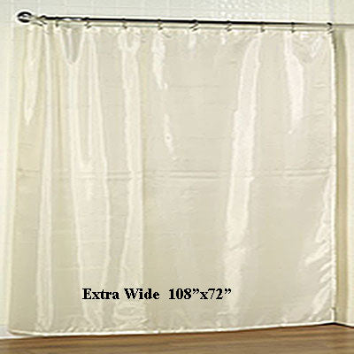 Extra Wide Fabric Shower Curtain Liner 108x72 Marburn Curtains