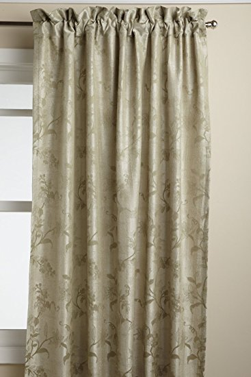 Floral Lustre Rod Pocket Panel /Waterfall Valance - Panel   052x063 Sage C31988- Marburn Curtains