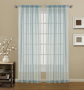 Gateway Lace Rod Pocket Panel - 054x063 Dark Teal C41475- Marburn Curtains
