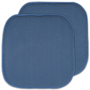 Honeycomb Memory Foam Chair Pads 2PC - Blue C39786- Marburn Curtains