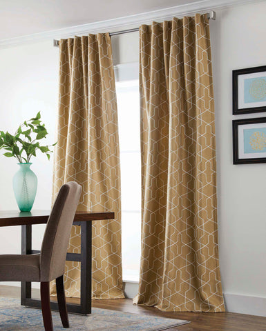 BH&G Square Irongate Room Darkening Rod Pocket Back Tab Panel - - Marburn Curtains