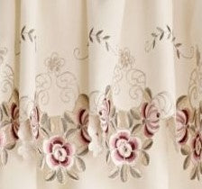 Isabella Rod Pocket Tier - Tier 060x024 Ecru Taupe C28946- Marburn Curtains