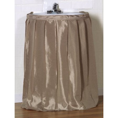 Lauren Dobby Fabric Sink Skirt Drape - 056x032 Linen C25655- Marburn Curtains