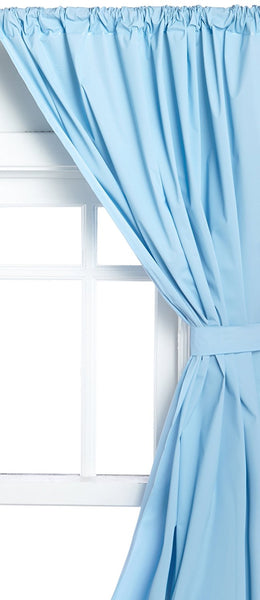 Vinyl Bathroom Window Curtain - 045x036 Lt. Blue C29955- Marburn Curtains