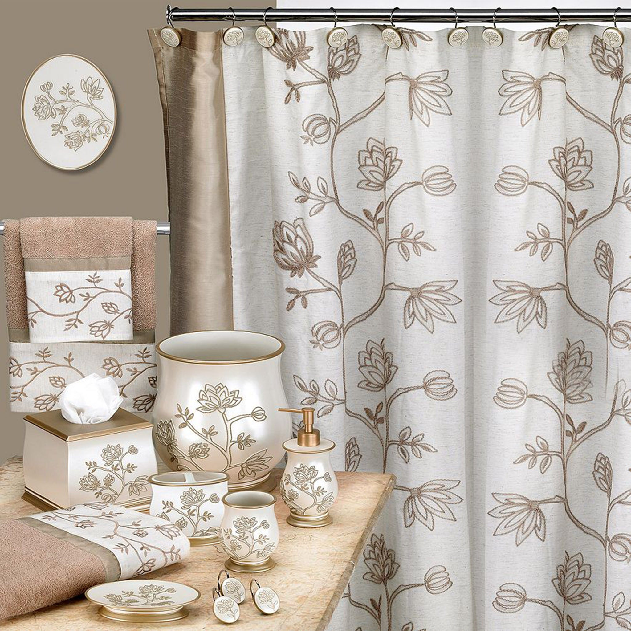 Maddie Fabric Shower Curtain - - Marburn Curtains