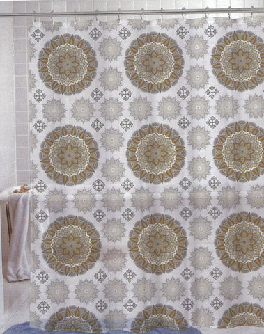 Medallion Diamond Peva/ Eva Shower Curtain - - Marburn Curtains