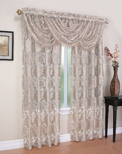 "Milawi Rod Pocket Curtain Panel 84"" 052x084   Beige  C44693"