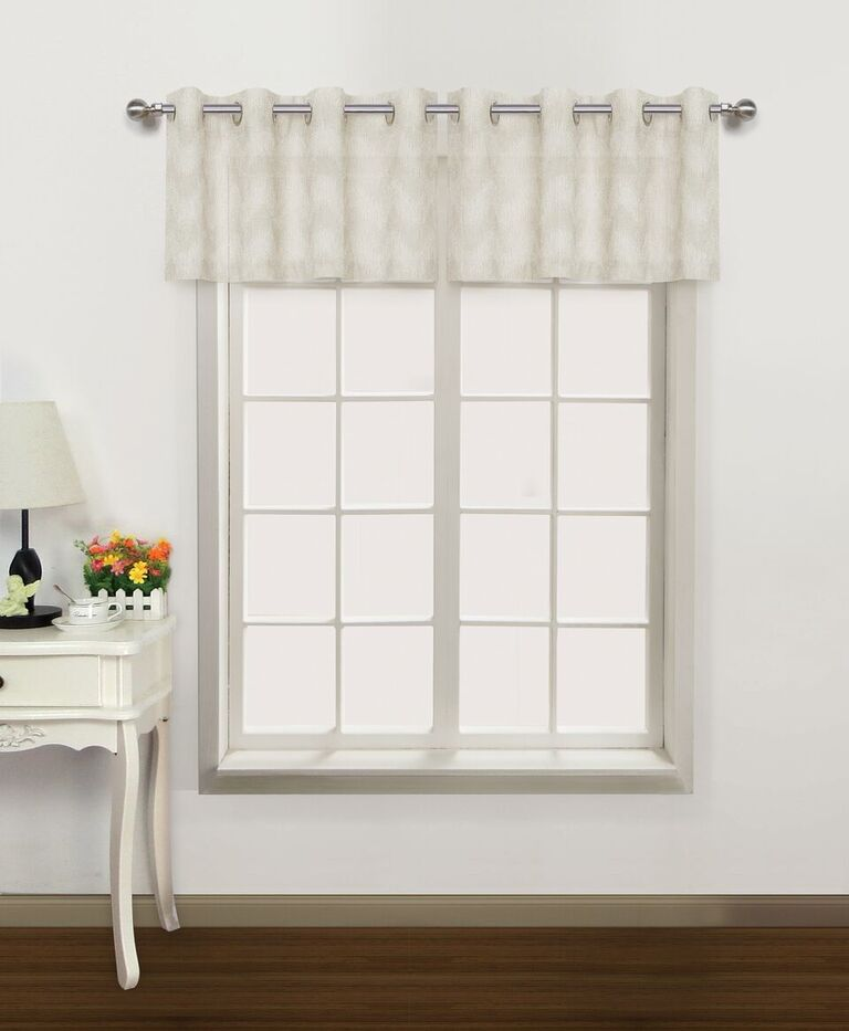 Milly Embroidered Textured Valance