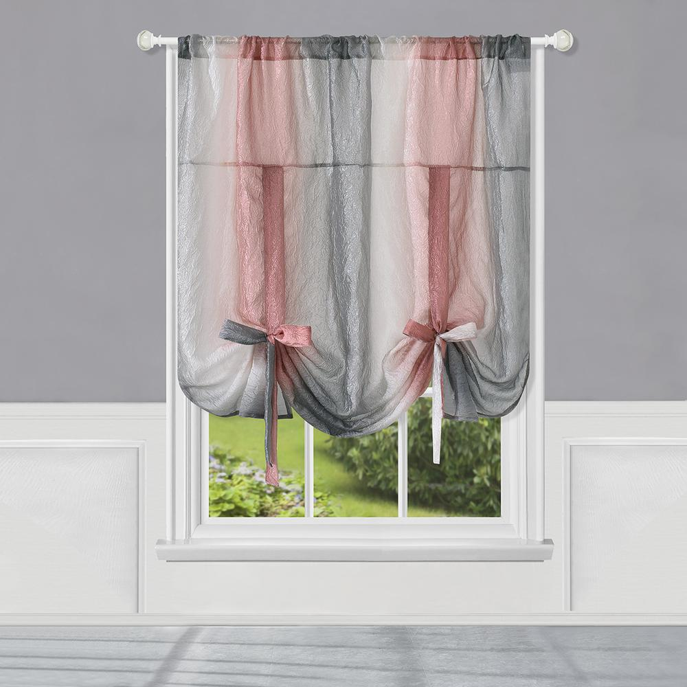 Ombre Rod Pocket Tie Up Shade Blush - - Marburn Curtains