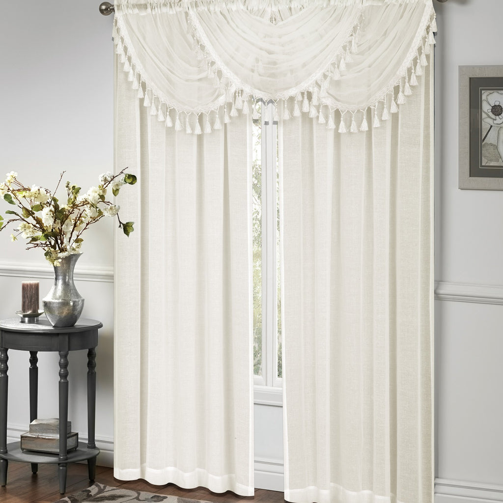 Circa Panel Rod Pocket / Waterfall Valance w/fringe